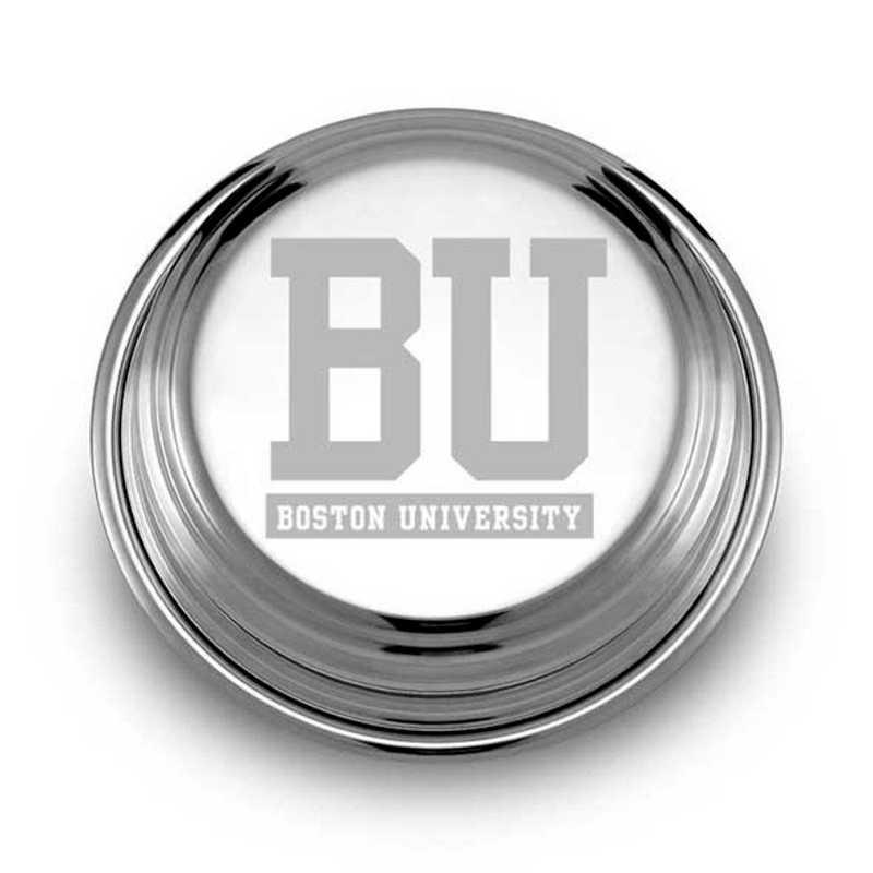 615789804505: Boston University Pewter Paperweight