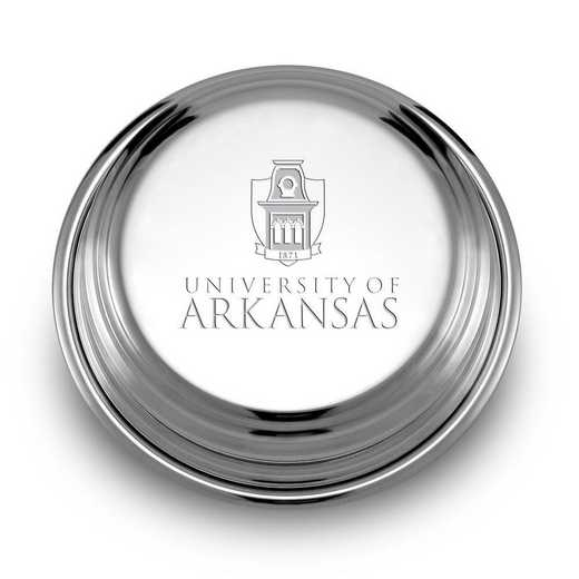 615789815204: University of Arkansas Pewter Paperweight