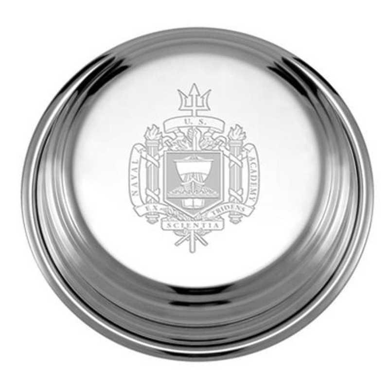 615789868972: Naval Academy Pewter Paperweight