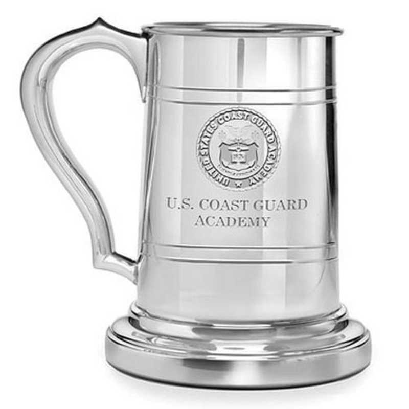 615789177302: Coast Guard Academy Pewter Stein by M.LaHart & Co.