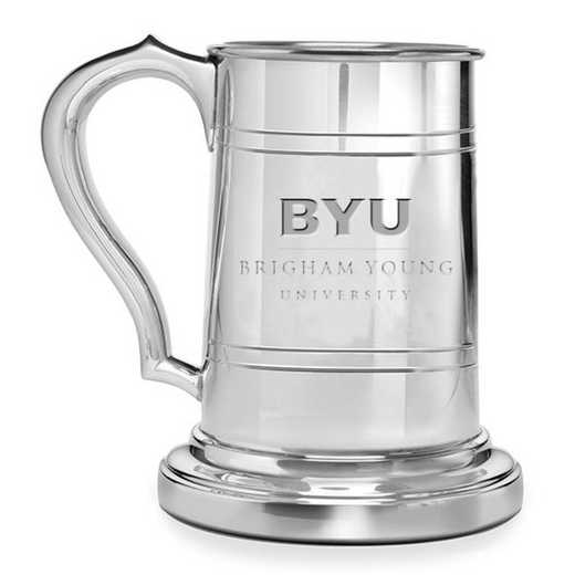 615789286066: Brigham Young University Pewter Stein by M.LaHart & Co.