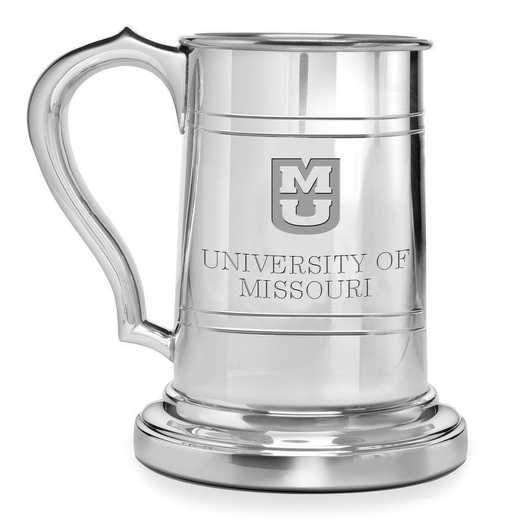 615789740698: University of Missouri Pewter Stein by M.LaHart & Co.