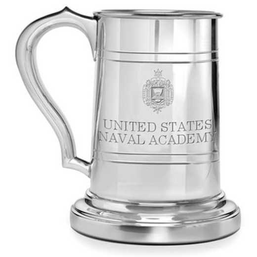 615789827696: Naval Academy Pewter Stein by M.LaHart & Co.