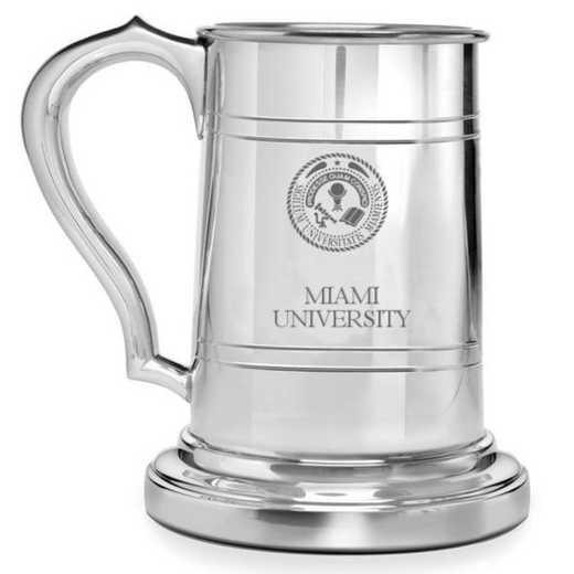 615789986836: Miami University Pewter Stein by M.LaHart & Co.