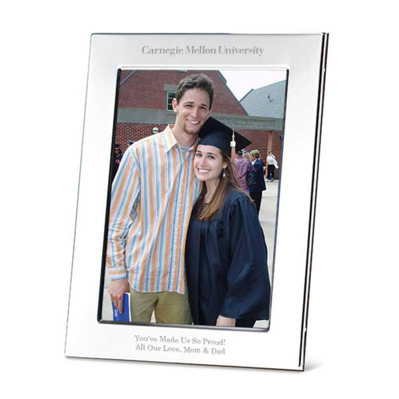 615789745891: Carnegie Mellon University Polished Pewter 5x7 Picture Frame