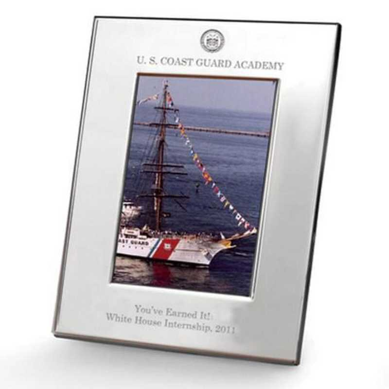 615789799559: Coast Guard Academy Polished Pewter 5x7 Picture Frame