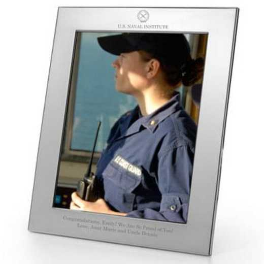 615789486794: USNI Polished Pewter 8x10 Picture Frame