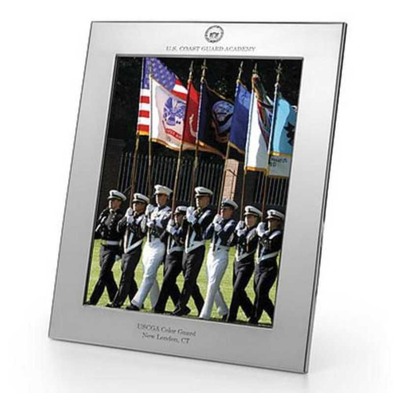 615789735779: Coast Guard Academy Polished Pewter 8x10 Picture Frame