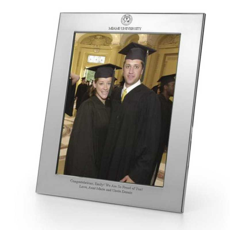 615789769446: Miami University Polished Pewter 8x10 Picture Frame