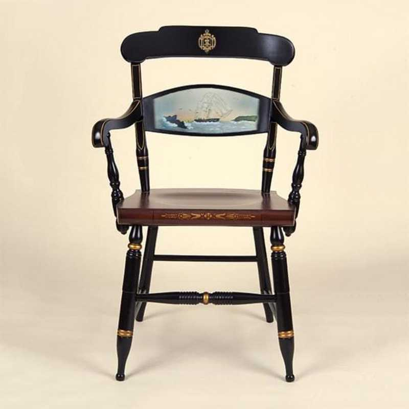 615789101659: Hand-painted US Naval Academy Campus Chair by Hitchcock