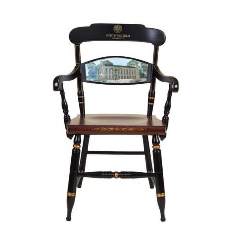 615789733614: Hand-painted Northwestern Univ Campus Chair by Hitchcock