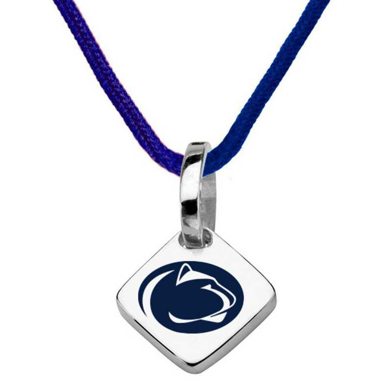 615789040125: Penn State Silk Necklace with Charm