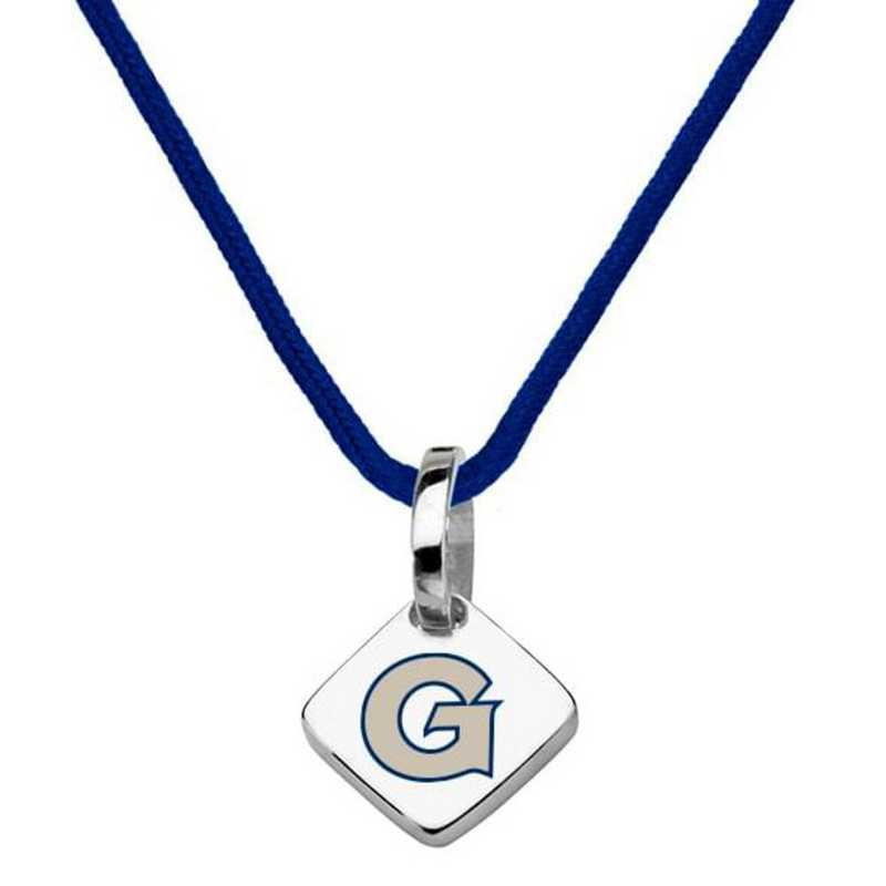 615789472339: Georgetown University Silk Necklace with Charm