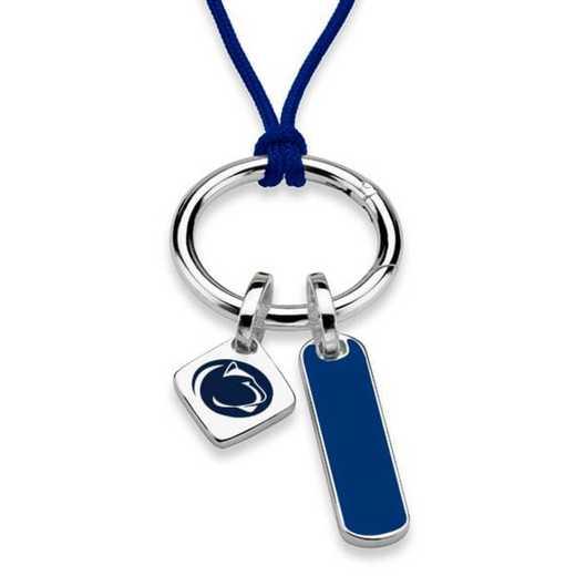 615789312598: Penn State Silk Necklace W/ Enamel Charm & SS Tag