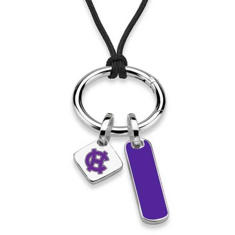 615789515760: Holy Cross Silk Necklace W/ Enamel Charm & SS Tag
