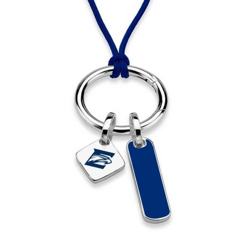 615789946458: Emory Silk Necklace W/ Enamel Charm & SS Tag