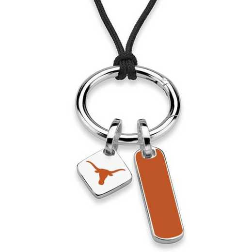 615789976134: Texas Silk Necklace W/ Enamel Charm & SS Tag