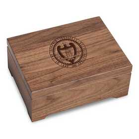 615789019756: Georgia Tech Solid Walnut Desk Box