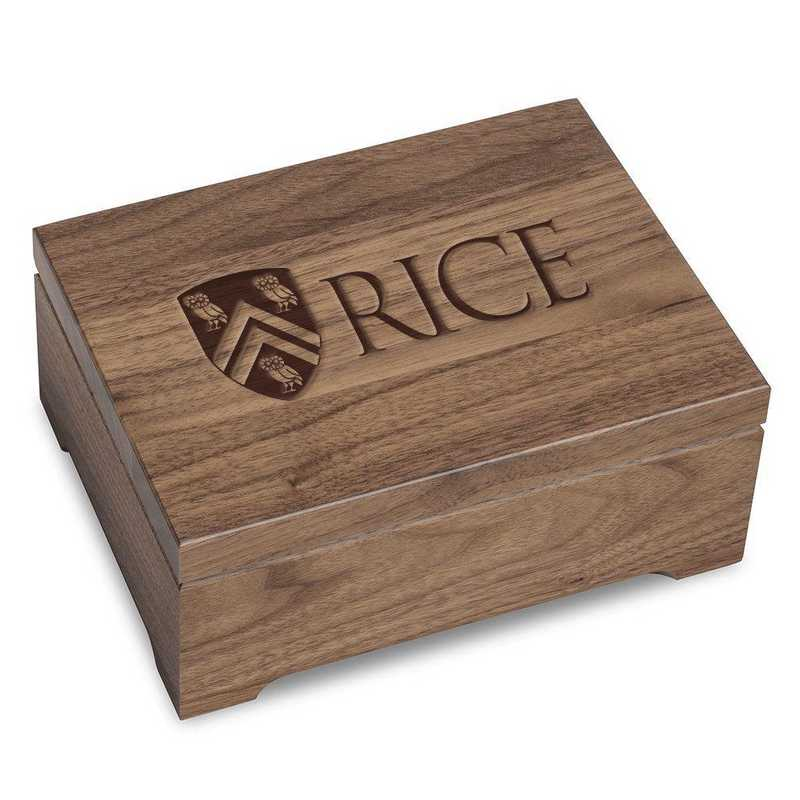 615789062370: Rice University Solid Walnut Desk Box