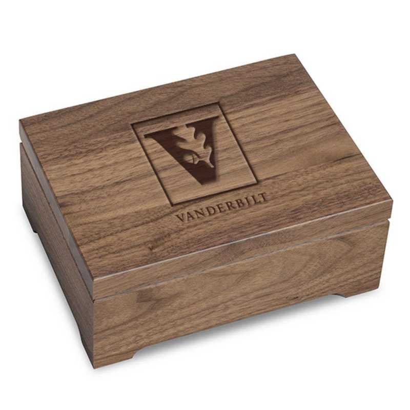 615789081760: Vanderbilt University Solid Walnut Desk Box