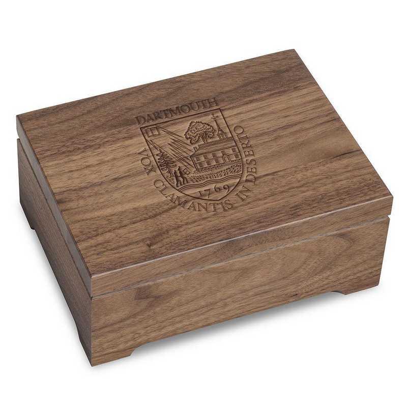 615789106524: Dartmouth College Solid Walnut Desk Box