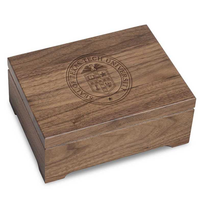 615789118671: Texas Tech Solid Walnut Desk Box