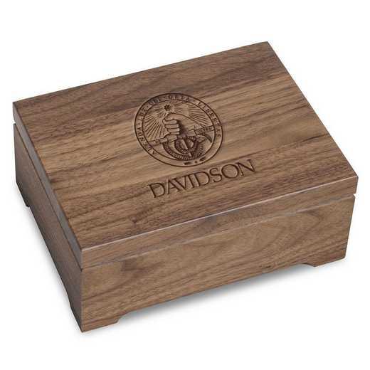 615789136309: Davidson College Solid Walnut Desk Box