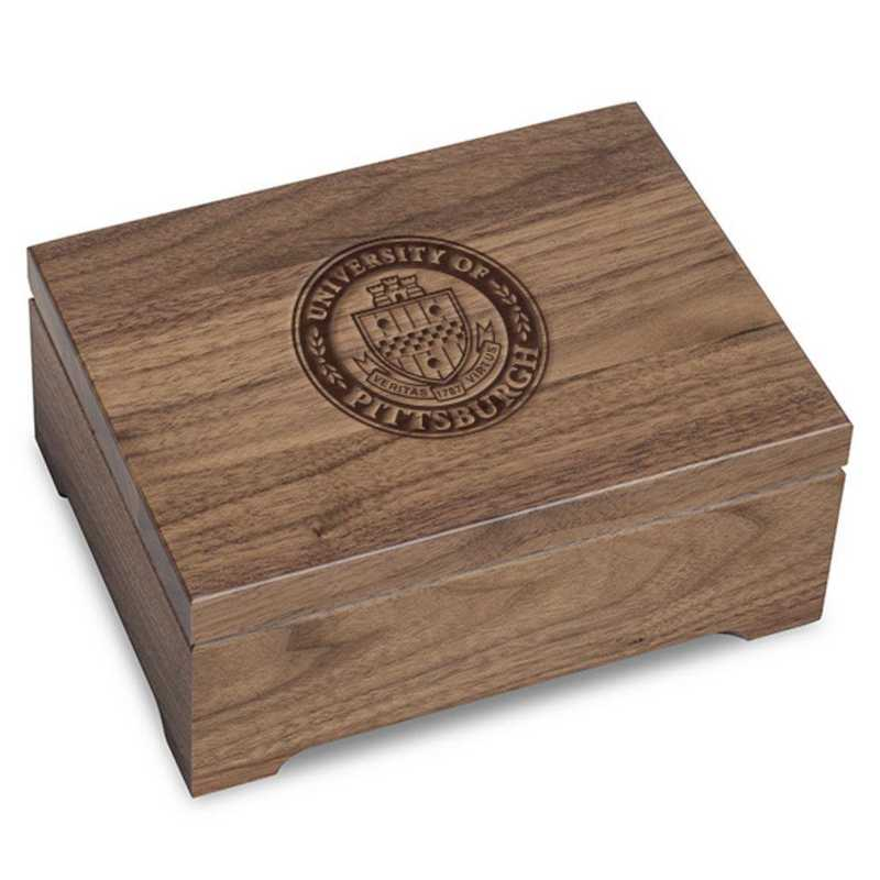 615789168683: Pitt Solid Walnut Desk Box