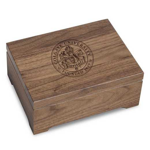615789232032: Colgate University Solid Walnut Desk Box