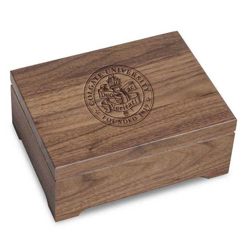 615789232032: Colgate University Solid Walnut Desk Box