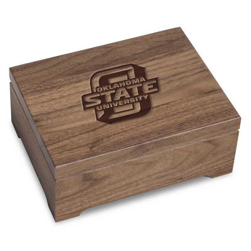 615789235224: Oklahoma State University Solid Walnut Desk Box
