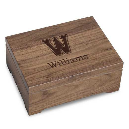 615789291510: Williams College Solid Walnut Desk Box