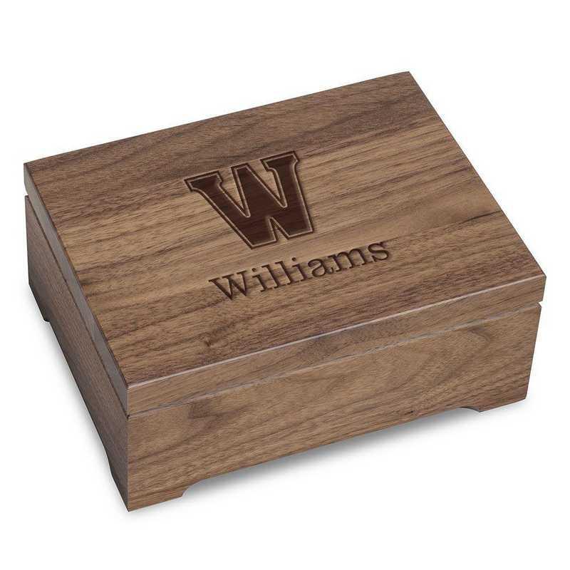 615789291510: Williams College Solid Walnut Desk Box