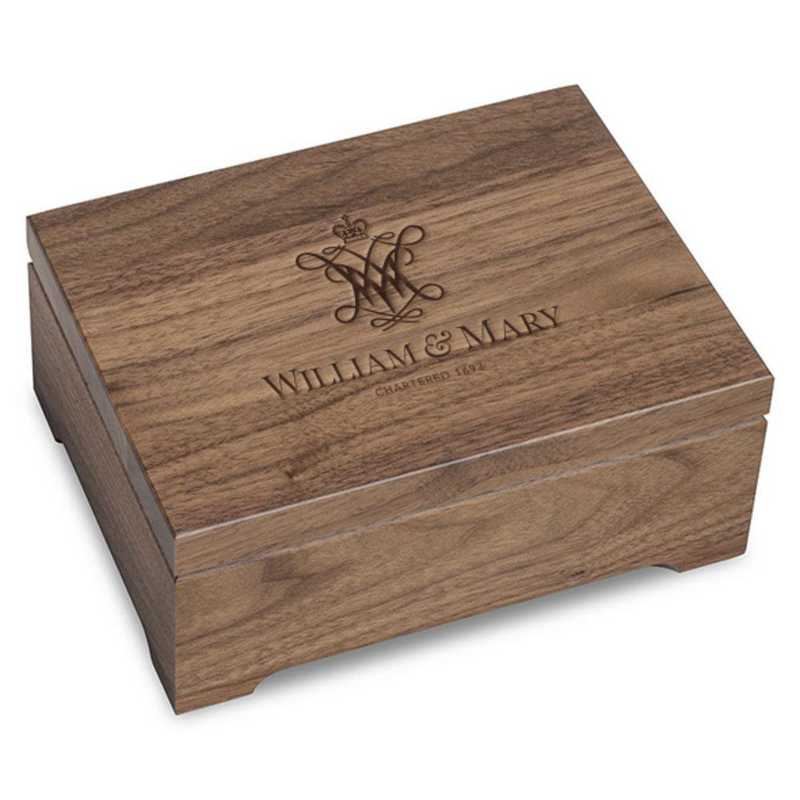 615789337553: College of William & Mary Solid Walnut Desk Box