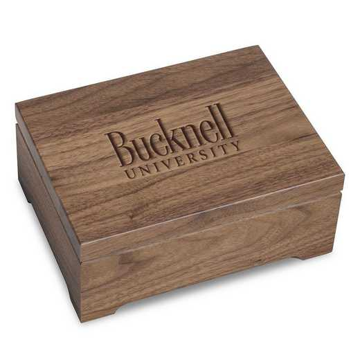 615789348535: Bucknell University Solid Walnut Desk Box