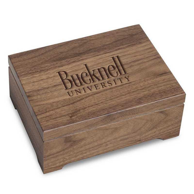 615789348535: Bucknell University Solid Walnut Desk Box