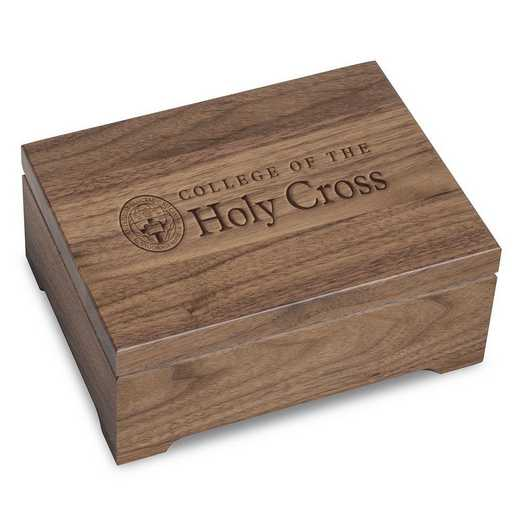 615789381884: Holy Cross Solid Walnut Desk Box