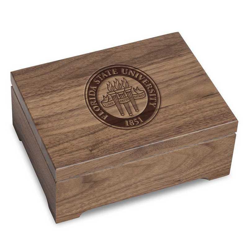 615789466406: Florida State University Solid Walnut Desk Box