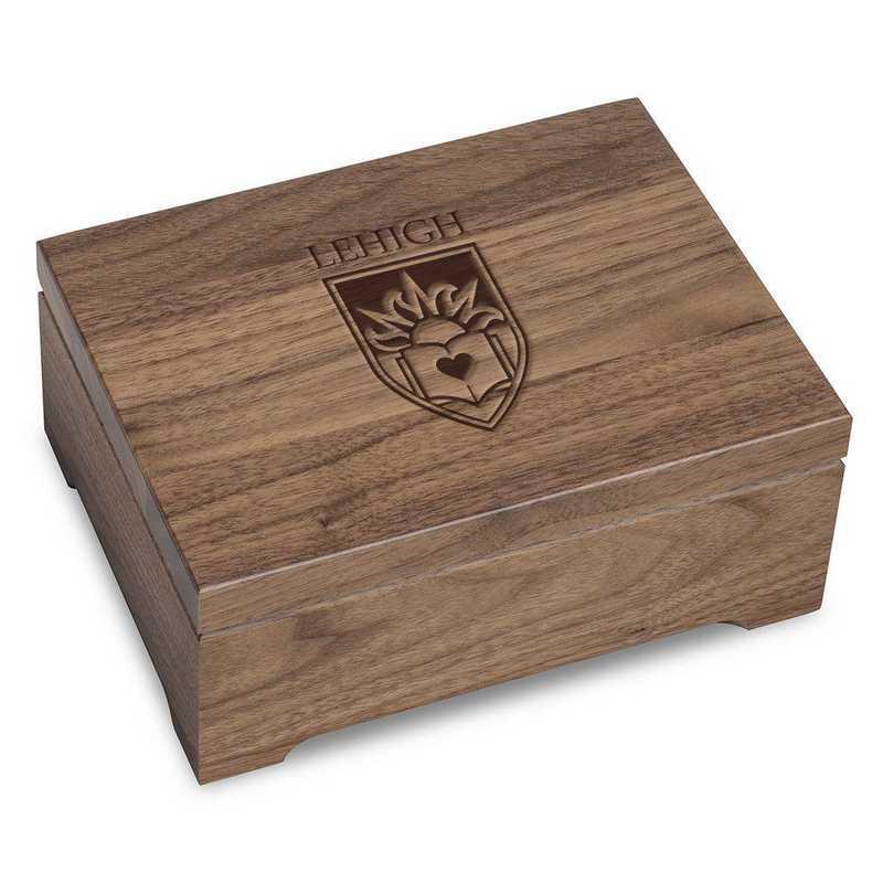 615789471257: Lehigh University Solid Walnut Desk Box