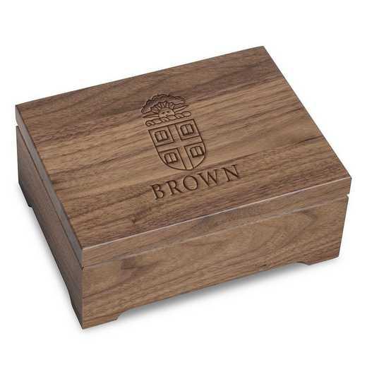 615789519065: Brown University Solid Walnut Desk Box