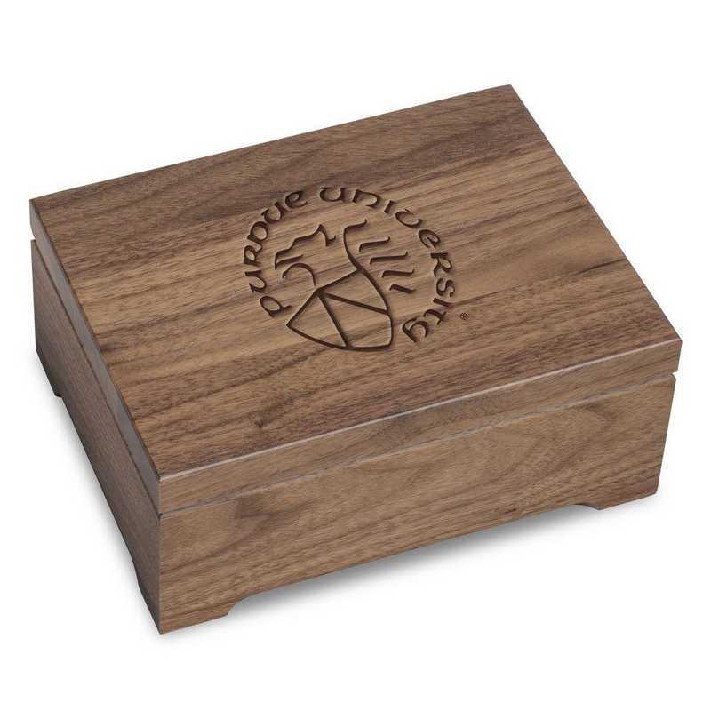 615789559603: Purdue University Solid Walnut Desk Box