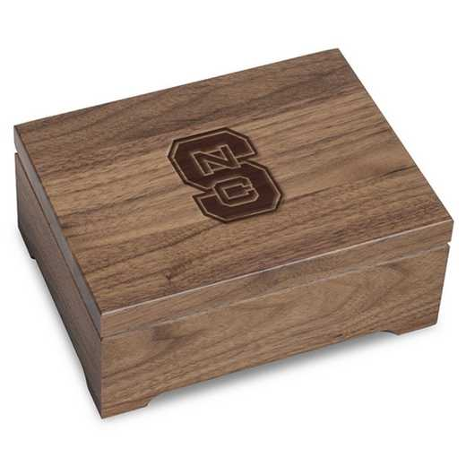 615789602194: North Carolina State Solid Walnut Desk Box