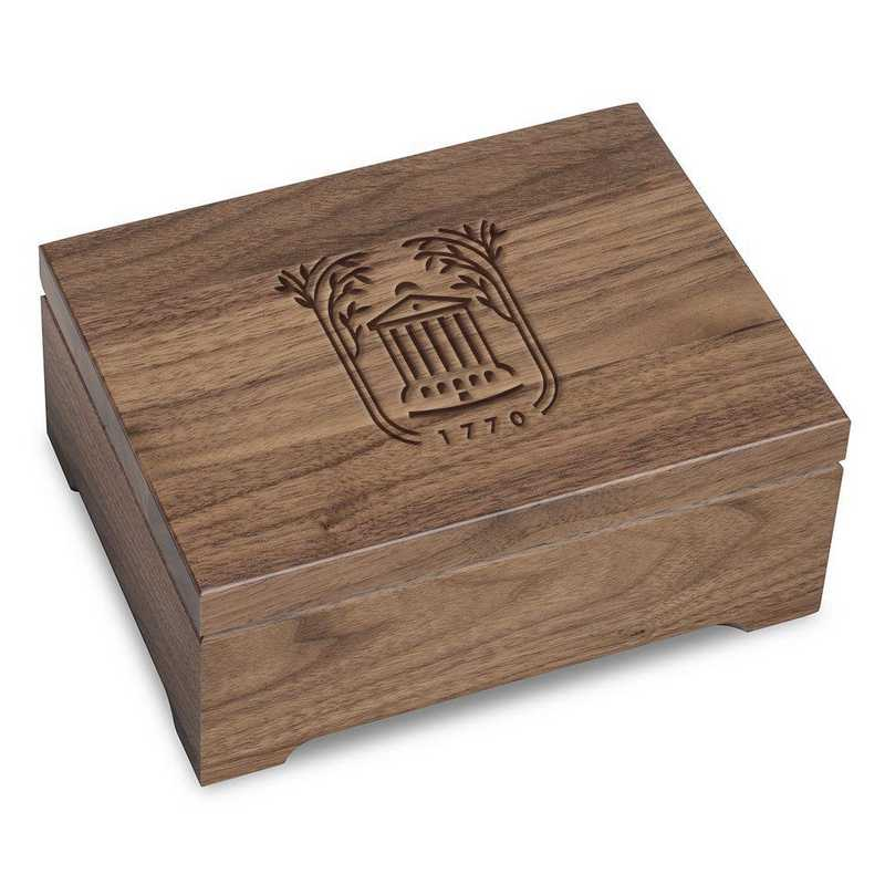615789634003: College of Charleston Solid Walnut Desk Box