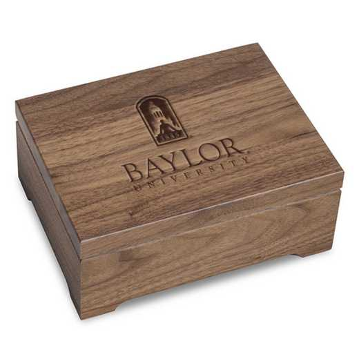 615789640738: Baylor University Solid Walnut Desk Box