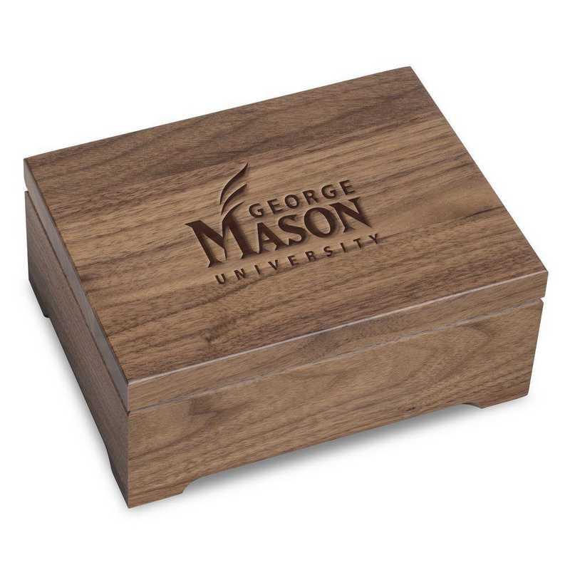 615789705949: George Mason University Solid Walnut Desk Box