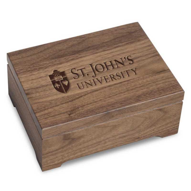 615789720911: St. John's University Solid Walnut Desk Box