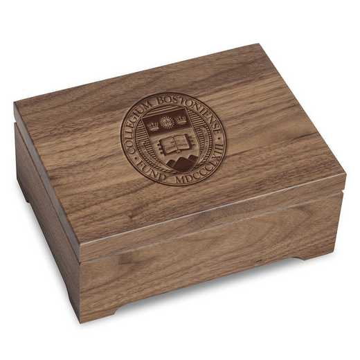 615789749257: Boston College Solid Walnut Desk Box