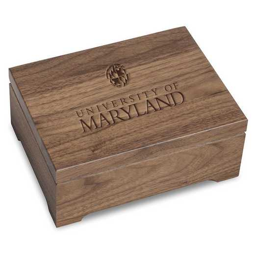615789759317: University of Maryland Solid Walnut Desk Box