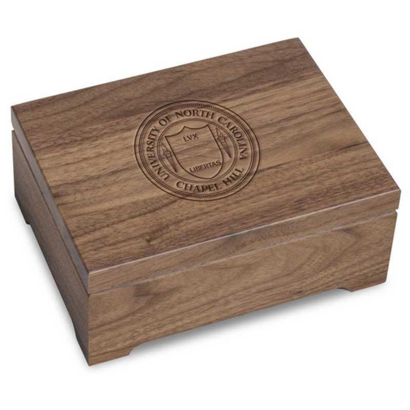 615789842552: University of North Carolina Solid Walnut Desk Box