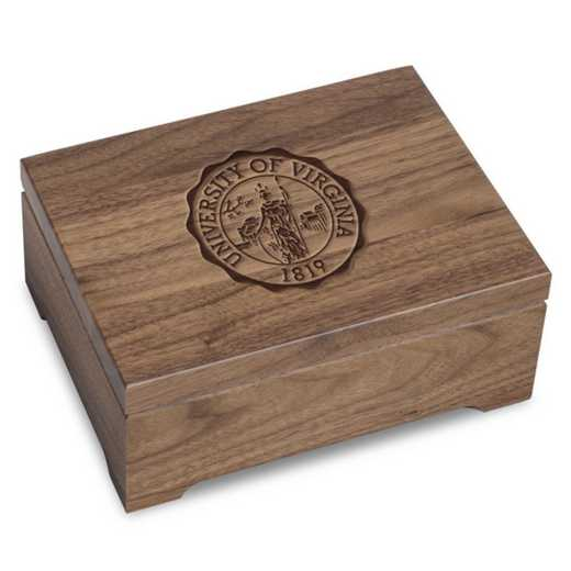 615789855200: University of Virginia Solid Walnut Desk Box